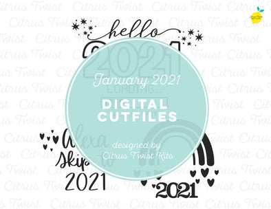 Digital Cut file - JAN 2021 - January 2021