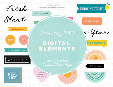 Life Crafted - NEW STARTS Digital Elements - January 2021