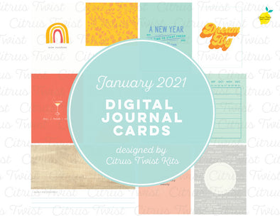 Life Crafted NEW STARTS Digital Journal Cards - January 2021