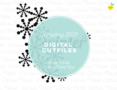 Digital Cut file - WINTER - January 2021