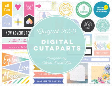 Printable - TRUE STORIES Cutapart Elements - August 2020