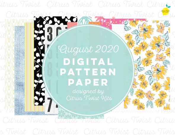 TRUE STORIES Notebook Digital TN Pattern Papers - August 2020