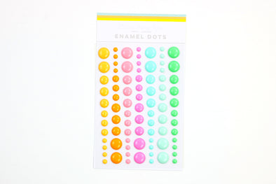 Citrus Twist WILD AT HEART Enamel Dots