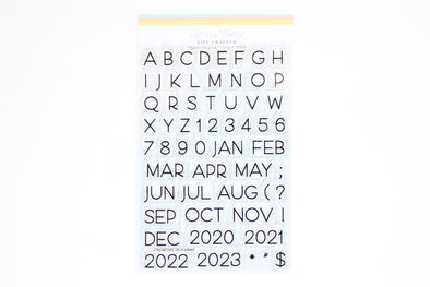 "Citrus Twist 4"" x 6"" BAILEY Alphabet, Number, Month Stamp"