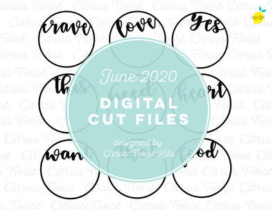 Cut file - CRAVINGS WORDS - June 2020