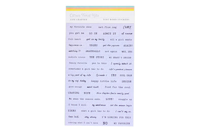 Citrus Twist CRAVINGS Lavender Tiny Word Stickers