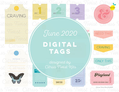 Printable - CRAVINGS Digital Tags - June 2020