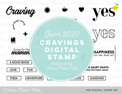 "This is Life ""YES"" Digital Stamp Set - June 2020"