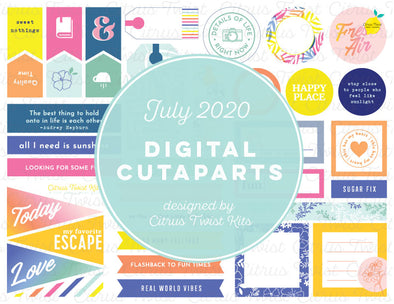 Printable - Cutapart Elements - July 2020