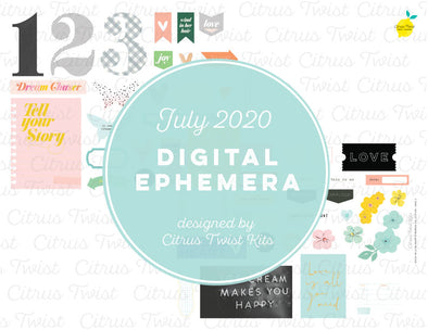 Printable - WILD AT HEART Ephemera Elements - July 2020