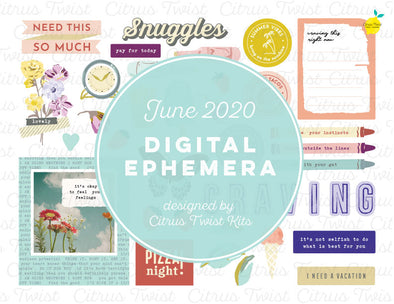 Printable - CRAVINGS Ephemera Elements - June 2020