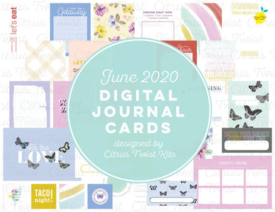 "Life Crafted ""CRAVINGS"" Journal Cards - June 2020"