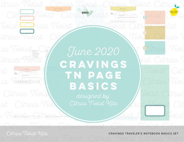 CRAVINGS Traveler's Notebook Basics Digital Papers