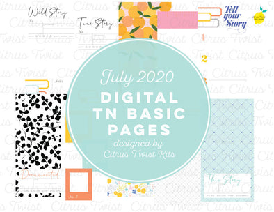 WILD AT HEART Traveler's Notebook Basics Digital Papers
