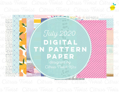 WILD AT HEART Notebook Digital TN Pattern Papers - July 2020