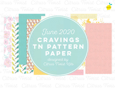 CRAVINGS Notebook Digital TN Pattern Papers - June 2020