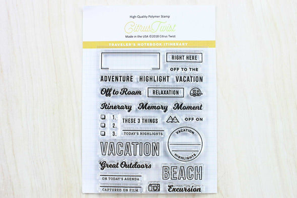 "June 2018 Travelers Notebook ""Itinerary"" Stamp"