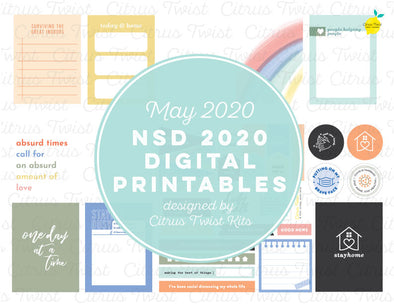 National Scrapbook Day Printable Files