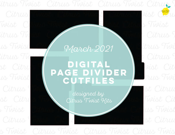 Digital Cut file - LIFE CRAFTED PAGE DIVIDERS - March 2021