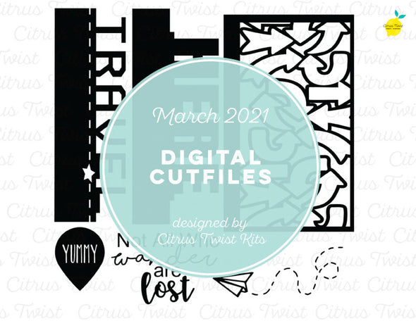 Digital Cut file - TRAVEL DIVIDERS - March 2021