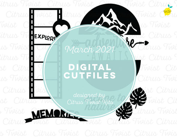 Digital Cut file - VACATION MEMORIES - March 2021