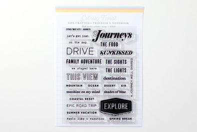 "Citrus Twist 3"" x 4"" JOURNEYS Kit Stamp"