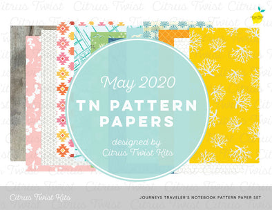 JOURNEYS Notebook Digital TN Pattern Papers - May 2020