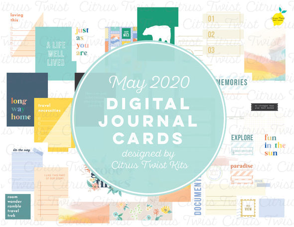 "Life Crafted ""journeys"" Journal Cards - May 2020"