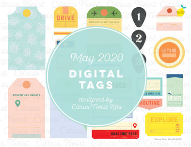 Printable - JOURNEYS Digital Tags - May 2020