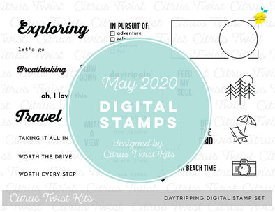 "This is Life ""Daytripping"" Digital Stamp Set - May 2020"
