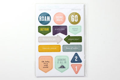 Citrus Twist JOURNEYS Chipboard Stickers