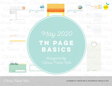 JOURNEYS Traveler's Notebook Basics Digital Papers