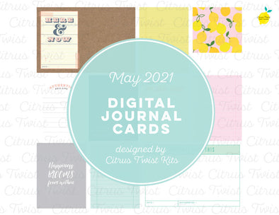 Life Crafted Digital Journal Cards - May 2021