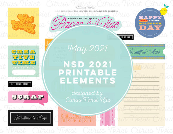 Life Crafted - NATIONAL SCRAPBOOK DAY Digital Elements - May 2021