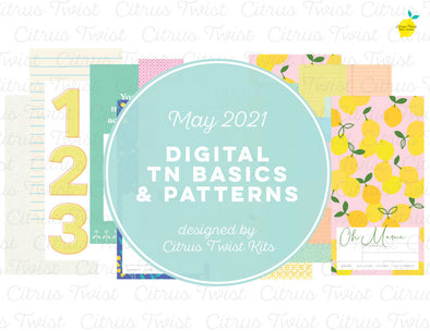 Life Crafted - Traveler's Notebook Basics & Patterns Digital Papers - May 2021