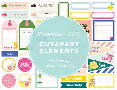 Printable - LEGENDARY Cutapart Elements - November 2020
