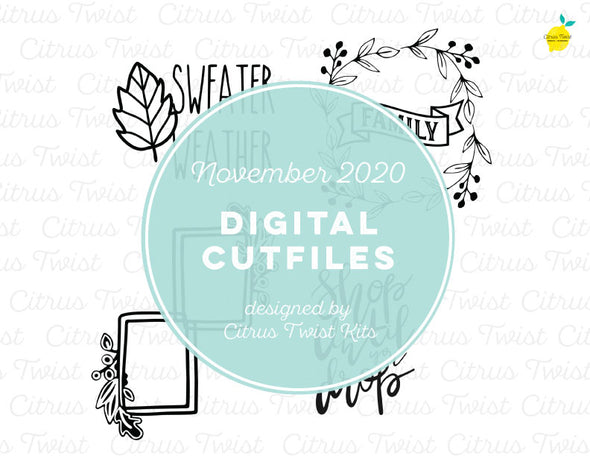 Cut file - FALL ICONS - November 2020