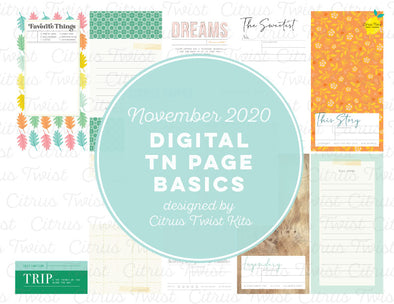 LEGENDARY Traveler's Notebook Basics Digital Papers - November 2020