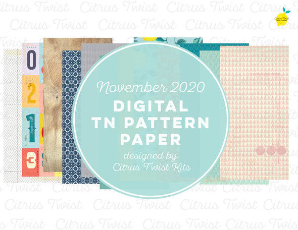 Digital - LEGENDARY Notebook Digital TN Pattern Papers - November 2020