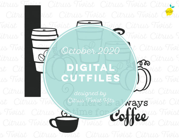 Cut file - COFFEE TIME - October 2020