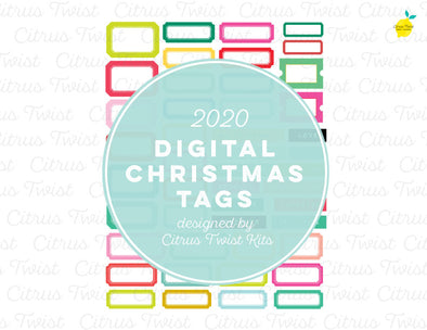 Printable - SPARKLE & JOY TAGS - Christmas 2020