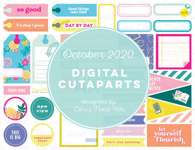 Printable - FLOURISH Cutapart Elements - October 2020