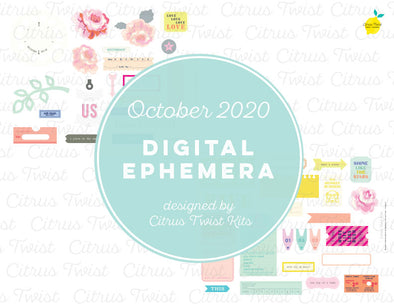 Printable - FLOURISH Ephemera Elements - October 2020