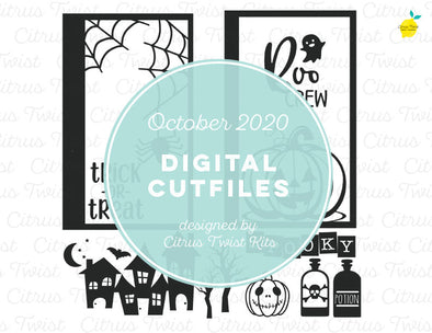 Cut file - HALLOWEEN - October 2020