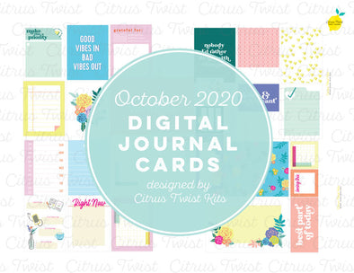 "Life Crafted ""FLOURISH"" Journal Cards - October 2020"