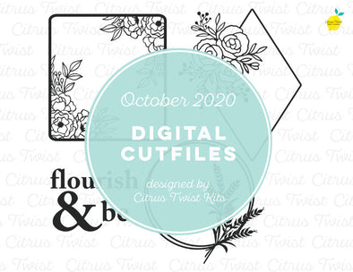Cut file - MODERN WREATHS - October 2020