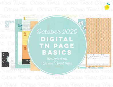 FLOURISH Traveler's Notebook Basics Digital Papers - October 2020