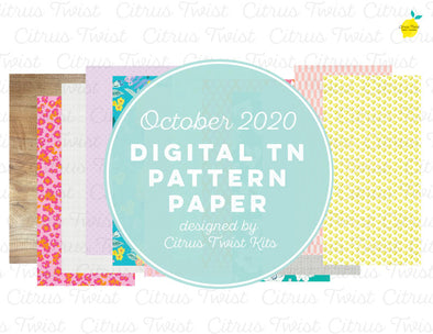 Digital - FLOURISH Notebook Digital TN Pattern Papers - October 2020