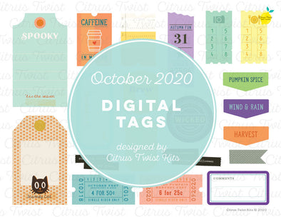 Printable - FLOURISH Digital Tags - October 2020