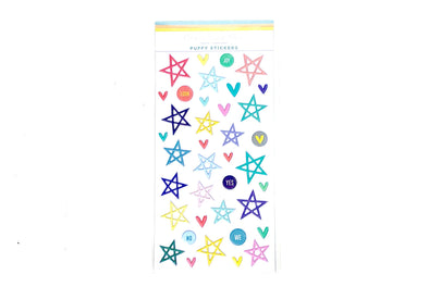 Citrus Twist Pleasant Valley Puffy Star & Icon Stickers